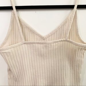 H&M Tops - H&M DIVIDED Cream Colored Rib Knit Crop Top